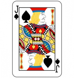 jack of spades vector image