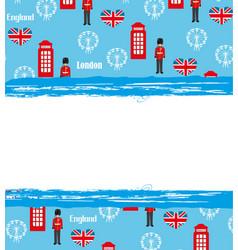 London landmarks symbols frame vector