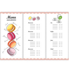 Menu design template dessert vector
