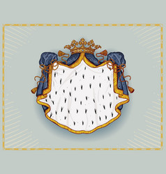 royal mantle vector image vector image