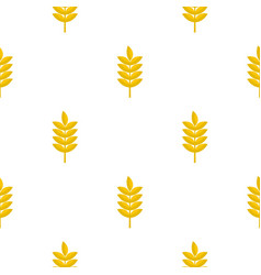 Rye spica pattern seamless vector