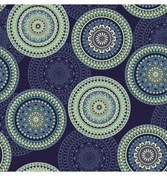 Seamless Pattern rounded ornament vector image vector image