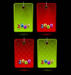 set of new year labels vector image