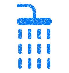 Shower grunge icon vector