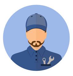 Stock male car mechanic repair vector