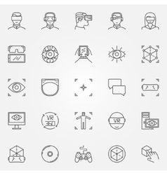Virtual reality icons set vector image vector image