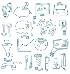 Doodle of business image with hand draw vector