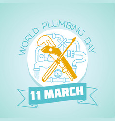 11 march world plumbing day vector