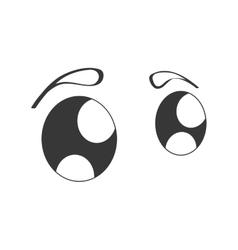 Cute eyes cartoon isolated icon vector