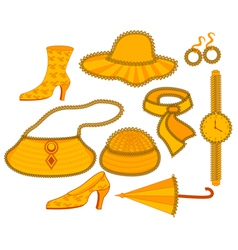 Everyday accessories vector