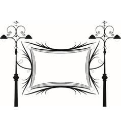 Vintage lanterns and signboard vector image
