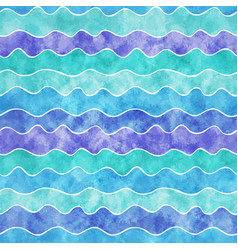 watercolor wavy lines vector image