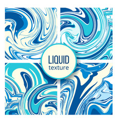 Liquid texture set trendy oil marble or colored vector