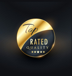 Top rated quality premium golden label design vector
