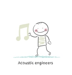Acoustic engineer with a note vector