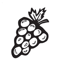 Simple grapes vector