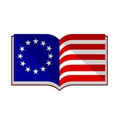 Usa flag book vector