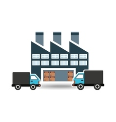 Transportation delivery service box warehouse vector