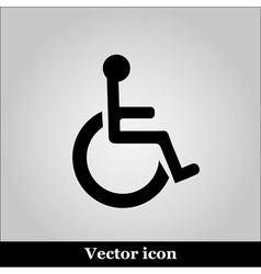 Disabled handicap icon on grey background vector