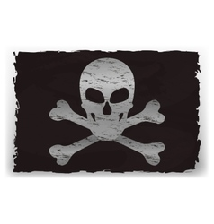 A black pirate flag vector