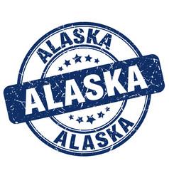 Alaska blue grunge round vintage rubber stamp vector