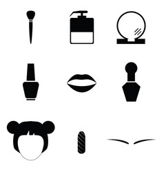 beauty icon set vector image