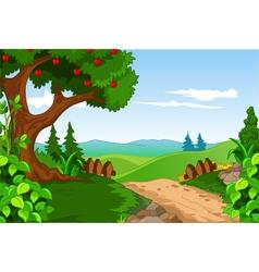 Beauty landscape for you design vector