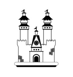 big castle icon image vector image