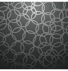Black circle pattern vector image vector image
