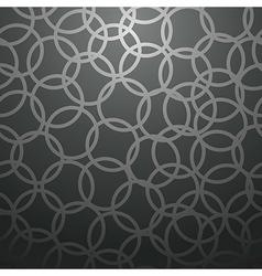 Black circle pattern vector image