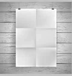 blank paper poster vintage background vector image vector image