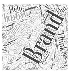 Branding do you know who you are Word Cloud vector image