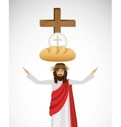 Catholic religion design vector