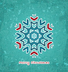 Christmas flake vector image