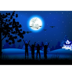 christmas night vector image vector image