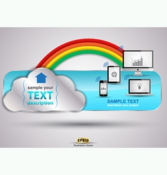 cloud rainbow vector image