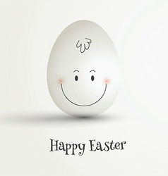 Easter egg with cute face vector image vector image
