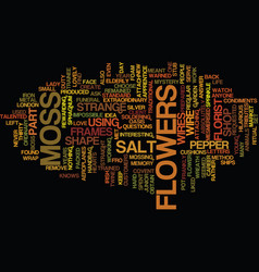 Flowers moss and salt and pepper text background vector