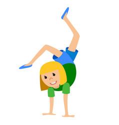 girl in dancing class vector image vector image