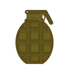 grenade weapon icon image vector image