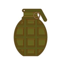 grenade weapon icon image vector image