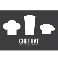 Hat icon set of restaurant chef design vector image vector image