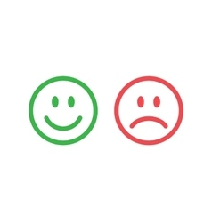 Line smile emoticons vector image