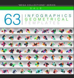 mega collection of color geometrical infographic vector image vector image