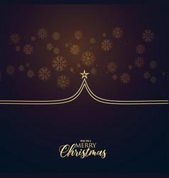 minimal premium christmas greeting design with vector image vector image