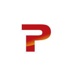 p letter logo vector image vector image