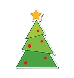 Pine tree merry chistmas design vector