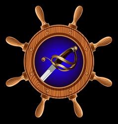 pirate sword vector image