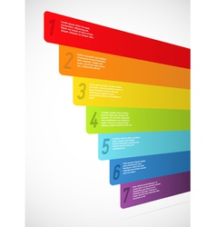 Rainbow banners with numbers vector image vector image