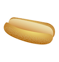 Realistic picture bread for hot dog fast food icon vector